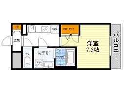 S-RESIDENCE江坂Alegria[7階]の間取り