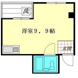 柳通りマンション[3階]の間取り