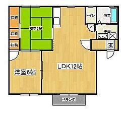 ヒッコリーハウス[A101号室]の間取り