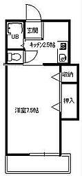 アヴェニール湘南1[2階]の間取り
