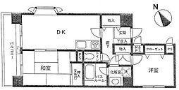ライオンズマンション横須賀中央第5[401号室]の間取り
