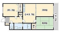 ミラージュ 3階3DKの間取り