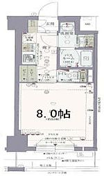 レジデンス三宮東グルーブ 3階1Kの間取り