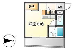 大島マンション廿軒家[1階]の間取り