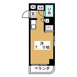 ホワイトヒルズ東桜[6階]の間取り