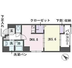 アブニール 舞鶴[4階]の間取り