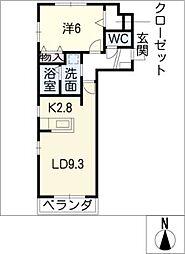 メゾン シャルマン[3階]の間取り