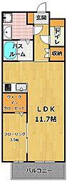 福岡県福岡市西区徳永北丁目なしの賃貸マンションの間取り