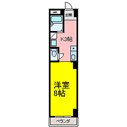 HOUSE108筒井[603号室]の間取り