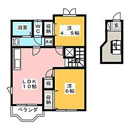 リッチハウス[2階]の間取り