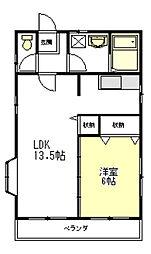 岸田コーポII[2階]の間取り