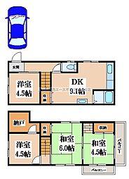 [一戸建] 大阪府八尾市垣内3丁目 の賃貸【/】の間取り