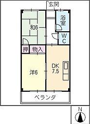 ニイミコーポ[3階]の間取り