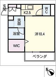 仮)JA賃貸豊田市金谷町2丁目 3階1SKの間取り