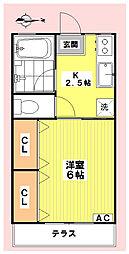 シティハイムMIZUKOU[105号室]の間取り