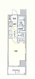 サニークレスト赤坂 6階1Kの間取り