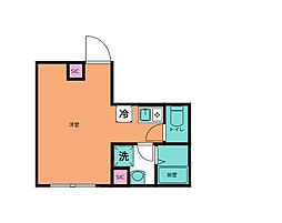 エルフローラ三軒茶屋 3階1Kの間取り