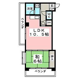 ロイヤルヒルズ台原I[3階]の間取り