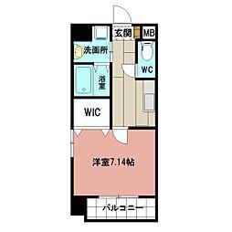 仮称)折尾4丁目賃貸マンション 8階1Kの間取り
