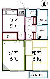 メゾン柊II[1階]の間取り