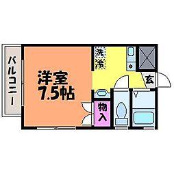 愛媛県松山市西一万町の賃貸マンションの間取り