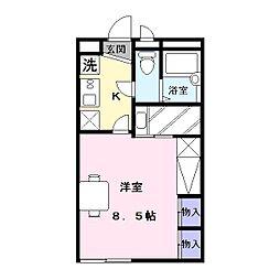奈良県奈良市八条5丁目の賃貸アパートの間取り