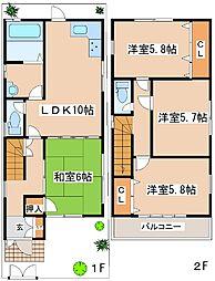 [一戸建] 兵庫県神戸市中央区山本通3丁目 の賃貸【/】の間取り