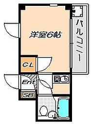 兵庫県神戸市須磨区車字竹ノ下の賃貸マンションの間取り