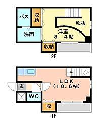 心月庵[2階]の間取り