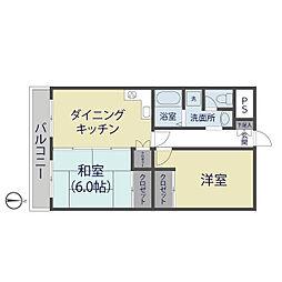 ノーブルマンション[202号室]の間取り