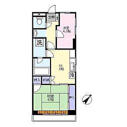 第二村田マンション[3階]の間取り