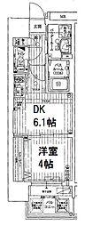 EC難波IIIラグース(エステムコートナンバIIIラグース) 6階1DKの間取り