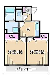 グランエスポワール[4階]の間取り