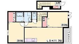 エスペランサ浜の宮II[2階]の間取り