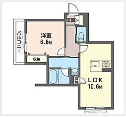 東京メトロ東西線 西葛西駅 徒歩7分の賃貸マンション 1階1LDKの間取り