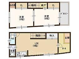 [一戸建] 大阪府堺市堺区向陵中町5丁 の賃貸【/】の間取り