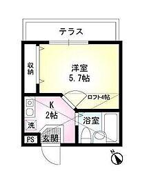 クレール東高円寺[0102号室]の間取り