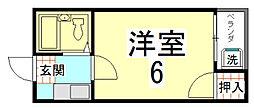 ノベルティー竜安寺[2階]の間取り