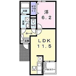 メゾン ルミエール[3階]の間取り