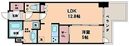 ブランズ北堀江プレイス 2階1LDKの間取り
