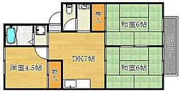 ハイツ山田II[102号室]の間取り