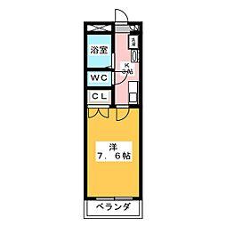 HANAMIZUKI四軒家[3階]の間取り