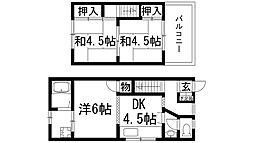[一戸建] 兵庫県宝塚市谷口町 の賃貸【/】の間取り