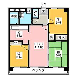 CASA キサラギ[2階]の間取り