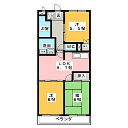 アピタシオン華[2階]の間取り