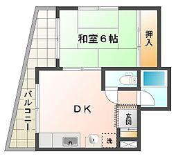 シャトー滝の茶屋[2階]の間取り