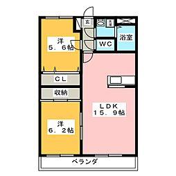 コンフォート鴻之台[5階]の間取り