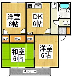 ベルメゾンサーバ[2階]の間取り