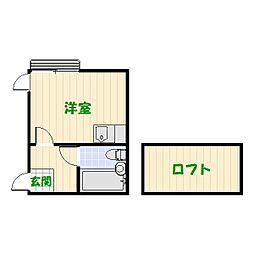 プラザ ドゥ ミハル-A・B[B203号室]の間取り