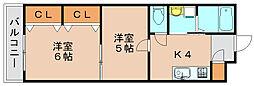 リファレンス箱崎[2階]の間取り